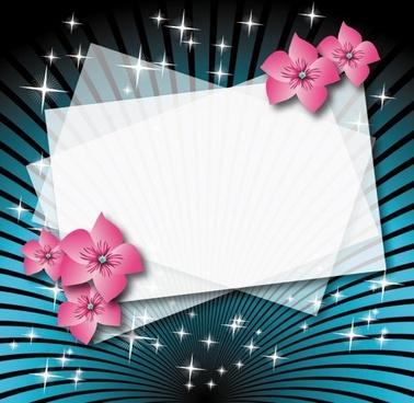 beautiful flower box empty cardboard 01 vector