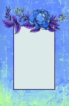 beautiful flower retro style vector graphics