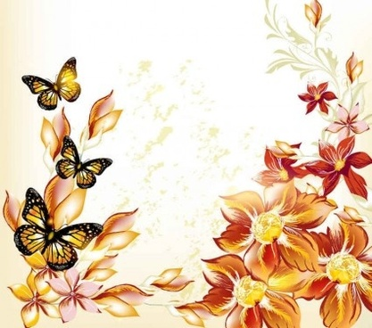 beautiful flowers background art vector