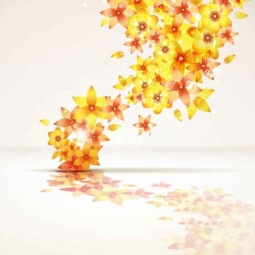 beautiful flowers background creative vector