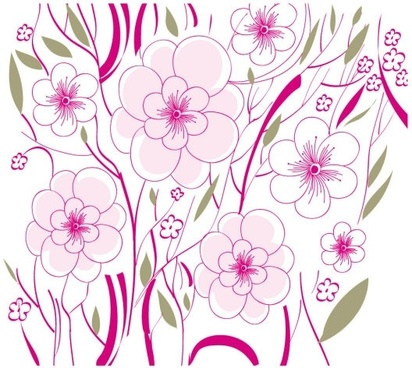 beautiful flowers background illustration 01 vector
