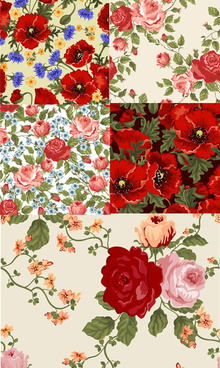 beautiful flowers backgrounds art vector