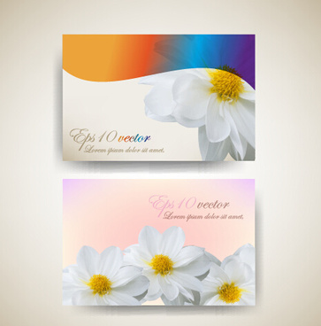 Flower business card background free vector download 65601 free beautiful flowers business cards vector reheart Gallery
