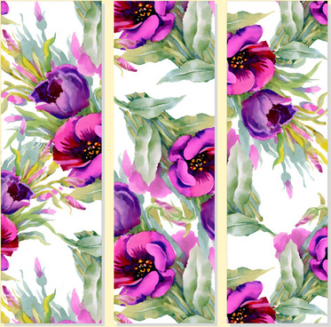beautiful flowers design banners vector set