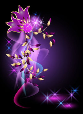beautiful flowers elements background vector
