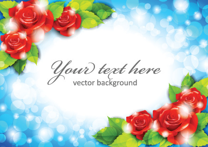 beautiful flowers frame backgrounds vector