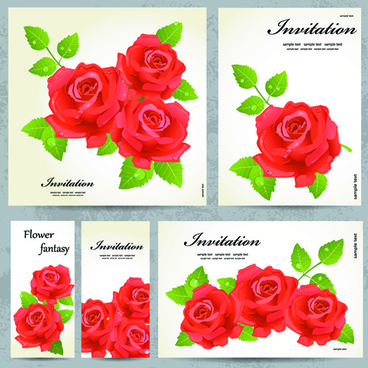 beautiful flowers invitation design