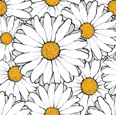 beautiful flowers seamless pattern art vector