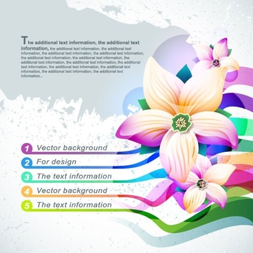 beautiful flowers shading background 02 vector