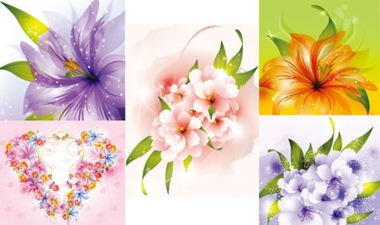 petals background bright colorful sparkling decor