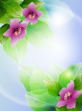 beautiful flowers vector 3