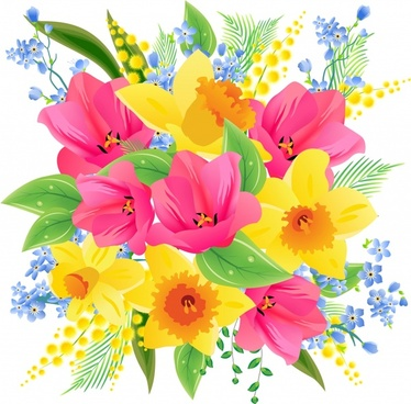 flowers background colorful blooming decor