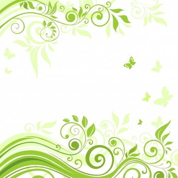 beautiful flowers vector illustration background