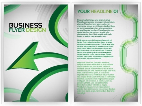 beautiful flyer plate design 02 vector
