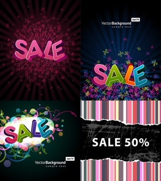 beautiful font design posters vector