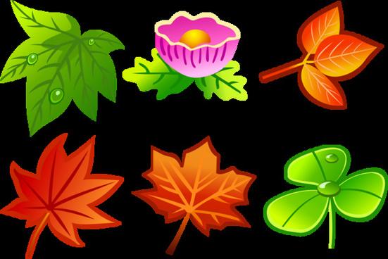 beautiful free vector leaves