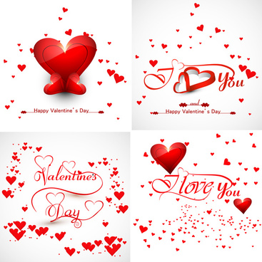beautiful friends forever for happy valentines day heart stylish text colorful background vector