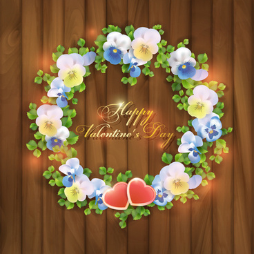 beautiful garland valentine vector background