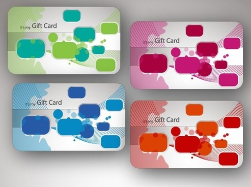 Beautiful Gift Card Vector Illustrations