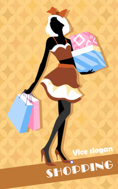 beautiful girl with fashion elements vector