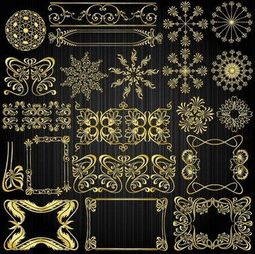 beautiful gold pattern 01 vector