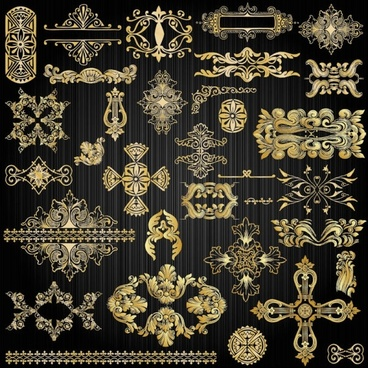 beautiful gold pattern 02 vector