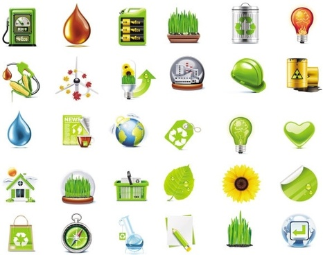 beautiful green icon vector
