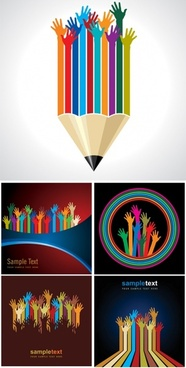 beautiful hand forms vector