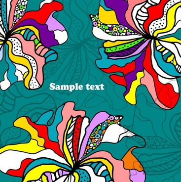 beautiful handpainted background pattern 01 vector