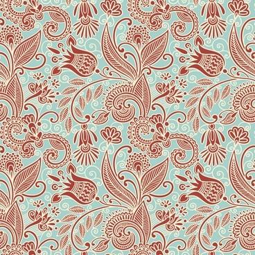 beautiful handpainted pattern vector 1