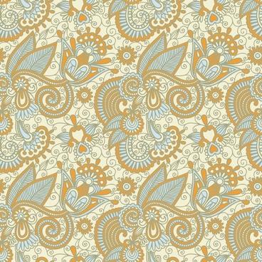beautiful handpainted pattern vector 2