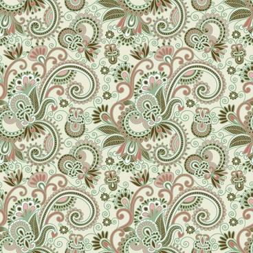beautiful handpainted pattern vector 4