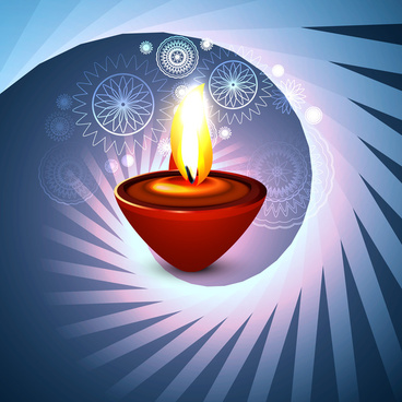 beautiful happy diwali artistic hindu festival swirl wave vector design