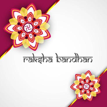 beautiful hindu rakhi card colorful presentation vector design