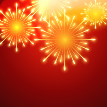 beautiful holiday fireworks vector background