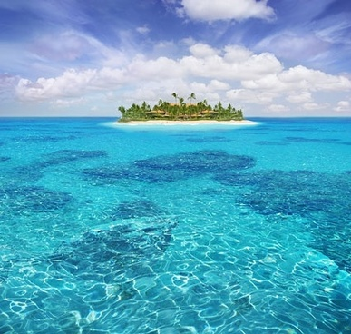 beautiful island stock photo