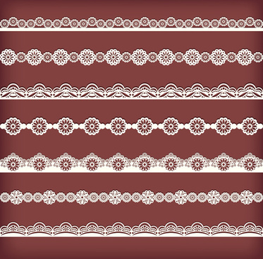 beautiful lace borders vector design