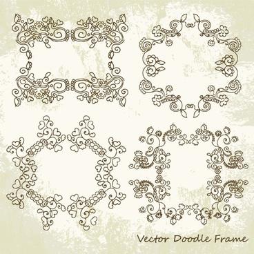 beautiful lace pattern 01 vector