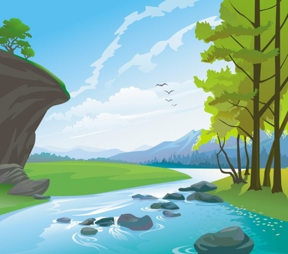 beautiful landscape 03 vector
