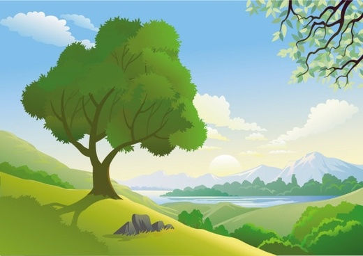 beautiful landscape 05 vector