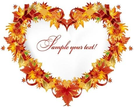 beautiful leaves card 01 vector