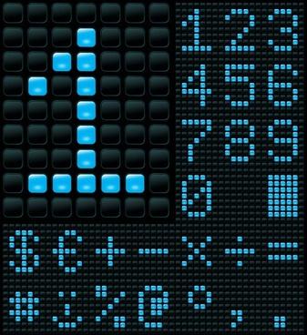 beautiful led display 01 vector