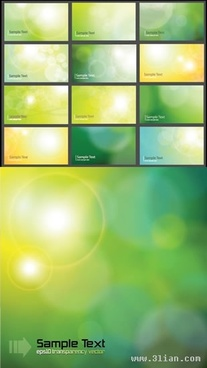 light background templates collection vivid green yellow bokeh