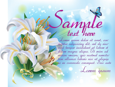 beautiful lilies art background design