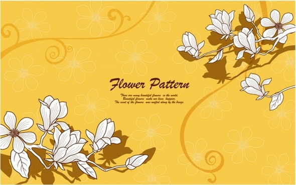 spring background flower petals sketch orange decor