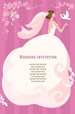 beautiful love bride wedding vector