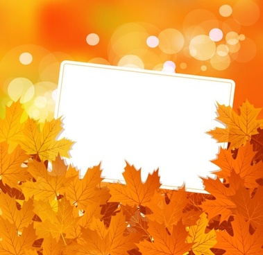 beautiful maple leaf background 02 vector
