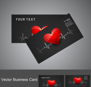 beautiful medical business card or visiting card colorful vector design