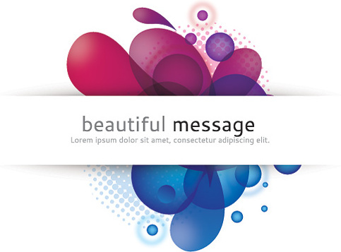 beautiful message vector graphic