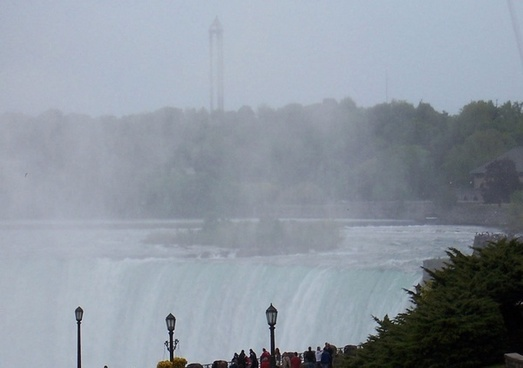 beautiful misting canadian falls